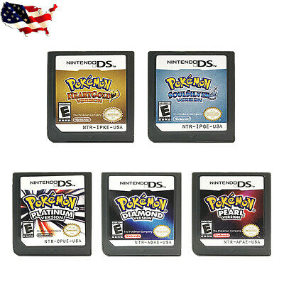 Pokemon Heart Gold/Soul Silver Version Game Card For Nintendo 3DS NDSI NDS Lite
