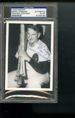 Ernie Lombardi Photo SIGNED Autograph Autographed Card PSA PSA/DNA Baseball MLB