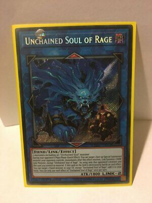 Unchained Soul Of Rage Secret Rare Yu-Gi-Oh Chaos Impact 1st Edition