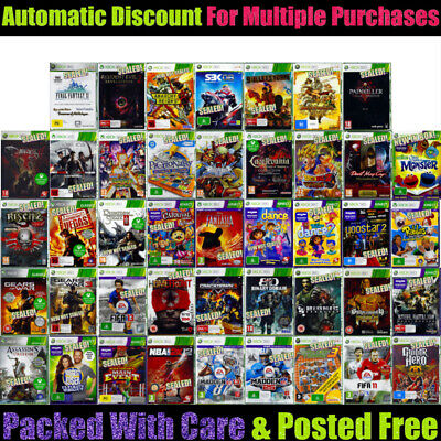 💚 XBOX 360 🔸 Your Choice of BRAND NEW GAMES 🔸 Most SEALED 05/12/19