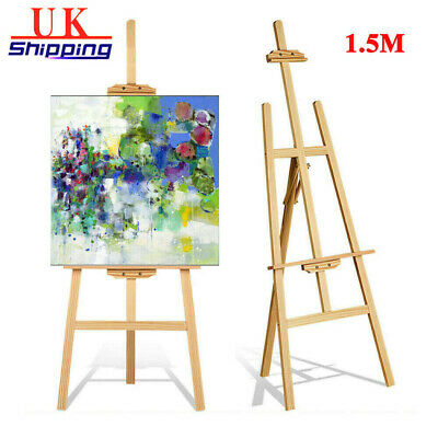 "1.5M Studio Wooden Easel Display Art Craft Paintings Stand ""A"" Frame Pine Wooden"