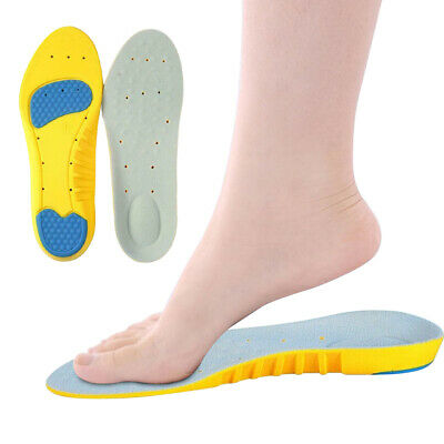 2 x Orthotic Insoles For Arch Support Plantar Fasciitis Flat Feet Back Heel Pain