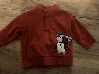 Gymboree NWT /'North Pole Express/' Penguin Micro fleece Hoodie 2T-3T