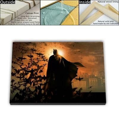 "16""x26"" DC Batman Paintings HD Canvas prints Framed Home decor Wall art Picture"