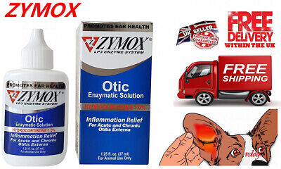 ZYMOX Otic With Hydrocortisone 1.25 oz Ear Drops For Dogs&Cats--Seal Original!