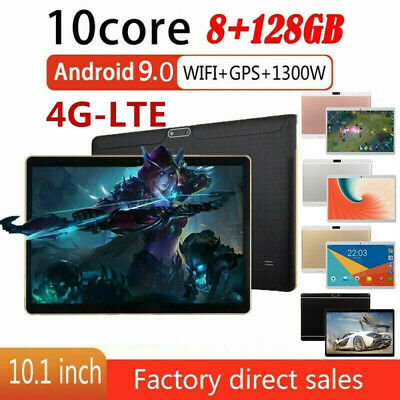 10.1'' 8GB+128GB Tablet PC bluetooth Android 9.0  WIFI/4G-LTE HD 10 Core 2SIM