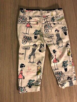 NEXT Girls Age 5 Crop Trousers Le Chien French Pattern Spring Summer Holiday