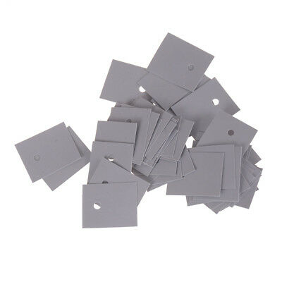 50pcs TO-247 Transistor Silicone Insulator Insulation Sheet 20*25mm UK ^F