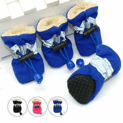 Waterproof Pet Snow Booties 4pcs Dog Cat Anti Slip Winter Warm Shoes Accessories