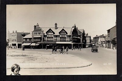Gt. Crosby near Liverpool - Crown Buildings  - real photographic postcard