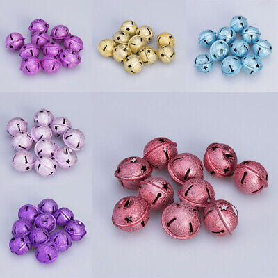 10pcs 30mm Craft Jingle Bells Cloth Pendant Accessories DIY Christmas Decoration