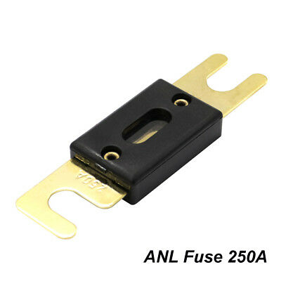 1xHigh Quality Large Size ANL Fuse Gold Plated Spade Car Stereo Audio 40A 400A