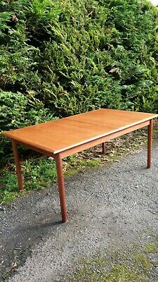Vintage Mid Century Dalescraft Solid Teak Dining Table 8ft Danish DELIVERY AVAIL