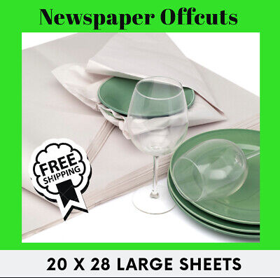 White Packing Paper Chip Shop Paper - Newspaper Offcuts Wrapping Large 20 x 28