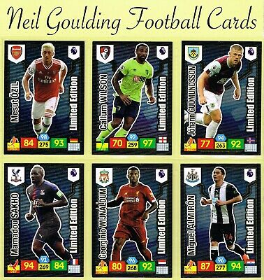 PANINI Premier League ADRENALYN XL 2019/2020 ☆ LIMITED EDITION ☆ Football Cards