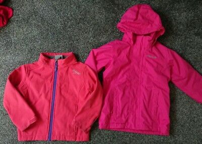 Regatta Winter Coat Tog 24 Soft Shell Jacket 3/4y Pink bundle