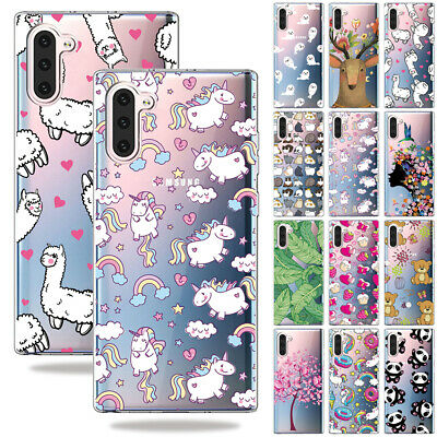 For Samsung Note 10 Plus S10e A8 Pattern Clear Soft Silicone TPU GEL Case Cover