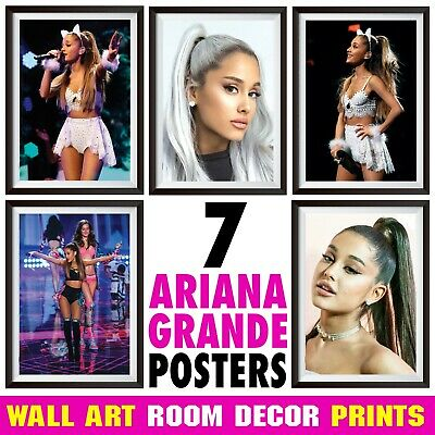 Ariana Grande Posters Print Wall Art Decor, A4 or A3 Size Option