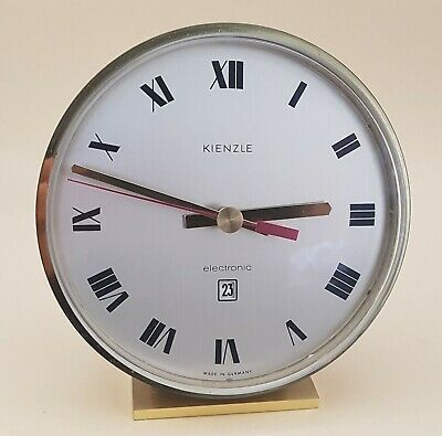 Kienzle Tischuhr electronic - 60er - Datum Germany - vintage table clock 60s