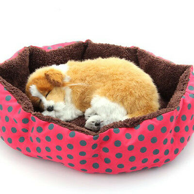 Warm Puppy Cat Dog Pet Bed House Kitten Nest Cushion Blanket Mat Pad Doghouse UK