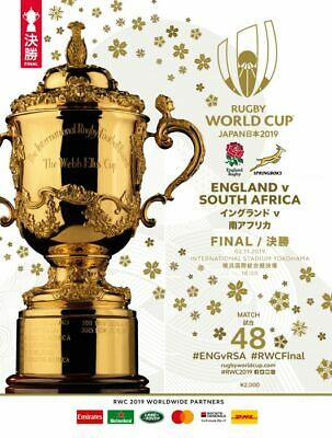 ENGLAND v SOUTH AFRICA 2019 RUGBY WORLD CUP FINAL PROGRAMME