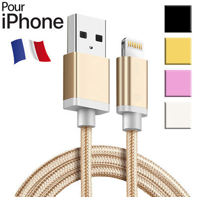 Câble Chargeur USB pour Apple iPhone 6 - 6S 7 8 Plus X SE 5 XR XS Max iPad Data