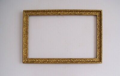 Antique Victorian Ornate Wood /Gesso Rococo Style Gilt Picture Frame (#C)