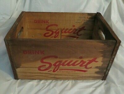 Vintage Squirt Drink Bronx, Ny Wood Box Crate
