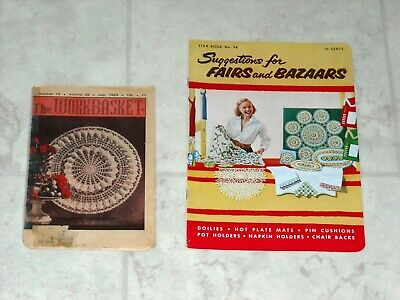 Vintage Suggestions for Fairs and Bazaars Booklet The Workbasket Crochet Pattern