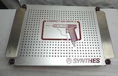 Synthes Compact Air Drive II Sterilization Case & Tray Only 304.014 304.011