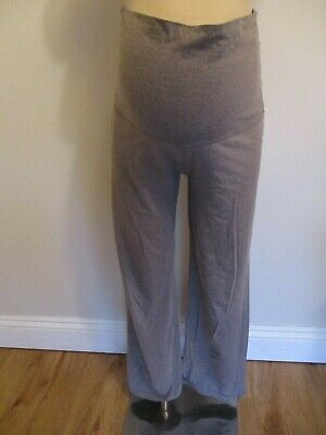 Blooming Marvellous Maternity Grey Marl Over Bump Casual Lounge Trousers Size 14