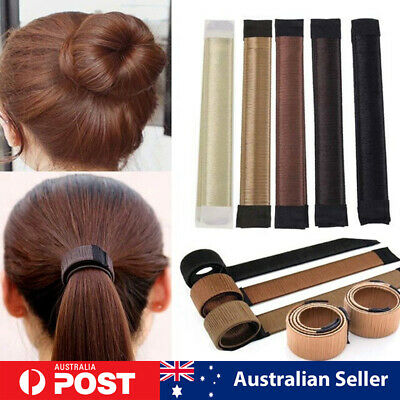 Women's Magic Hair Bun Snap Styling Donut Former French Twist Band Maker Tools