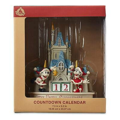 Disney Parks Mickey Minnie Mouse Castle Christmas Happy Holiday Countdown New
