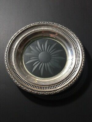 Vintage Frank M. Whiting & Co Talisman Rose Sterling Silver Dish