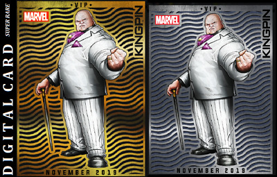 Topps Marvel Collect Card Trader Vip November Kingpin Gold & Silver
