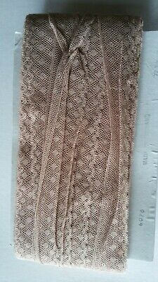 Approx 72 yards Vintage/Old COTTON ? LACE on card...made in England