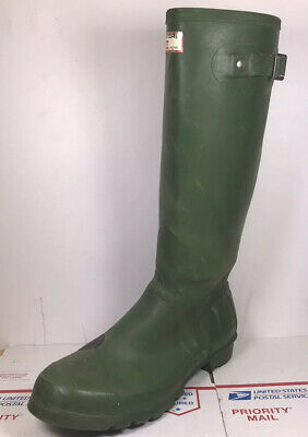 Vtg Hunter Rain Boots Wellies Made in Britain Uniroyal Rubber Boots Mens Sz 10