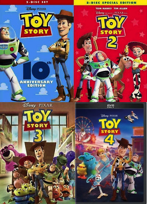 Toy Story 1-4 DVD 1 2 3 4 Bundle Complete Collection NEW