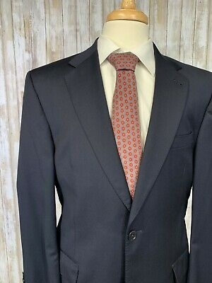 Jos A Bank Signature Gold 41R (36x30) Navy Blue Suit Wool (Small flaw)