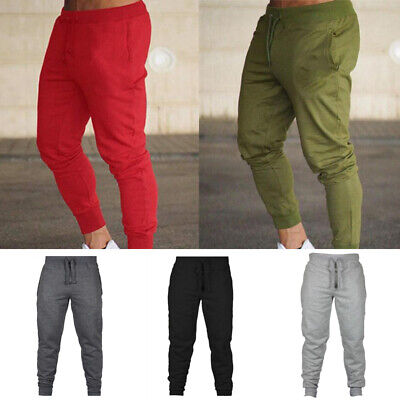 Men Casual Harem Long Sweatpants Slim Fit Gym Sports Jogger Running Track Pant