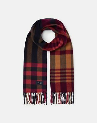 Joules 209567 Check Woven Scarf in NAVY PINK CHECK in One Size