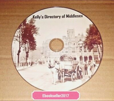 Essex history kelly/'s /& local directories registers /& Victorian history on disc