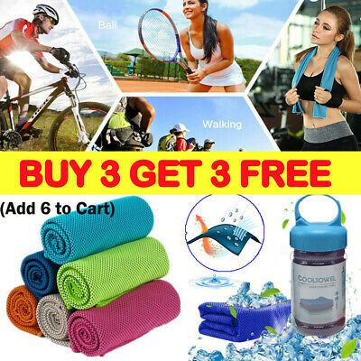 Instant Cooling Towel ICE Cold Cycling Jogging Gym Sports Outdoor Chilly CoolR