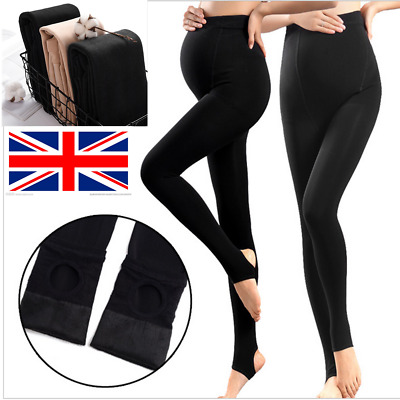 Thick Heavy & Warm Maternity Cotton Leggings Ankle Length PREGNANCY For Mom UK