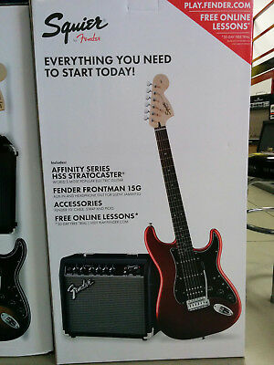 SQUIER by FENDER PACK AFFINITY STRAT HSS 15G CAR - Kit chitarra + amplificatore