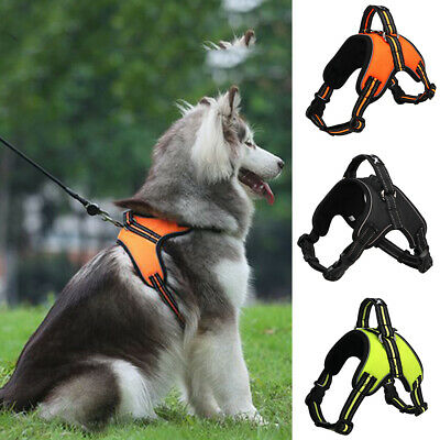 No-pull Large Dog Harness Outdoor Adventure Reflective Pet Vest Padded Handle