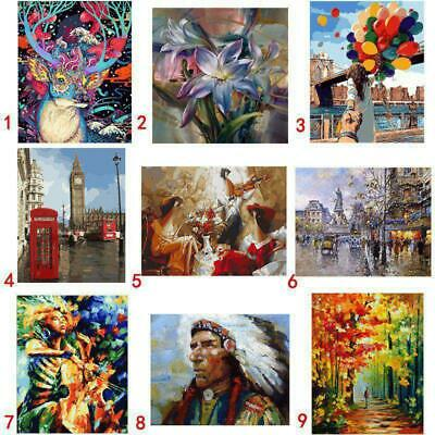 DIY Paint By Number Kit Digital Oil Painting Canvas No Framed Home Wall Decors