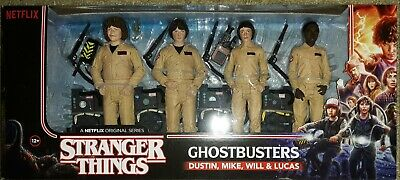 Stranger Things Ghostbusters Dustin Lucas Mike Will 4 Pack Mcfarlane Toys New