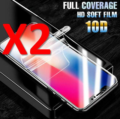 2X Hydrogel Film Screen Protector For Apple iPhone X Full Cover
