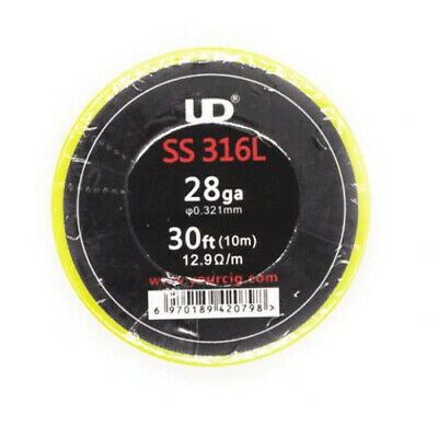 10m SS316L 24 26 28 30 32 34 36 ga GAUGE AWG COIL FATHER WIRE S.STEEL RESISTENZA